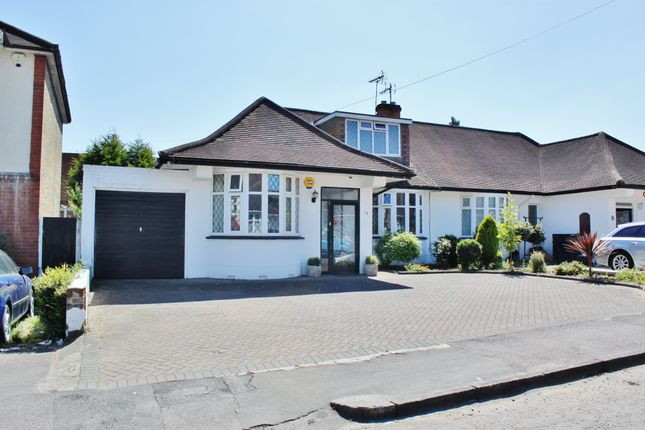 Thumbnail Semi-detached bungalow to rent in Lilian Gardens, Woodford Green