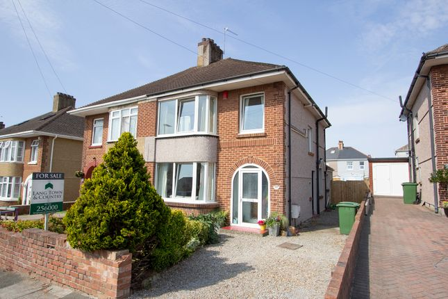 Thumbnail Semi-detached house for sale in Clevedon Park Avenue, Milehouse, Plymouth