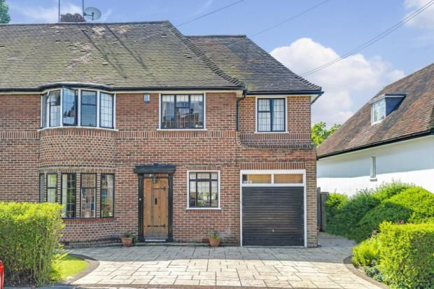 Thumbnail Semi-detached house for sale in Vivian Way, Hampstead Garden Suburb, London