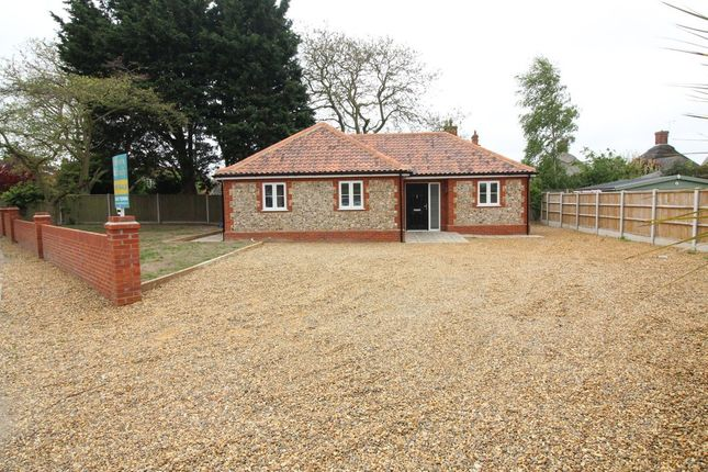Thumbnail Detached bungalow for sale in Camping Field Lane, Stalham, Norwich