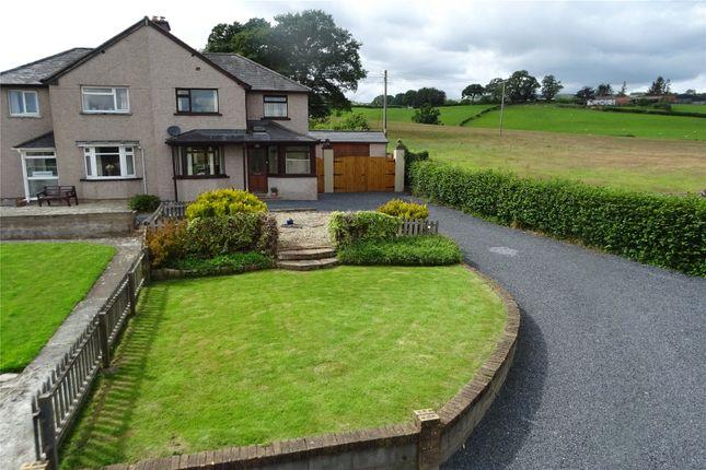 Thumbnail Semi-detached house for sale in Maesyllan, Trefeglwys, Caersws, Powys