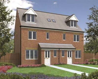 """Thumbnail Semi-detached house for sale in """"The Penshaw"""" at Haggerston Road, Blyth"""
