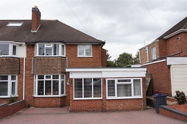 Thumbnail Semi-detached house for sale in Hollyhurst Road, Sutton Coldfield