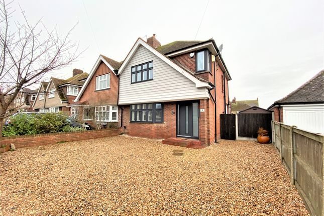 Thumbnail Semi-detached house for sale in Seymour Avenue, Westbrook, Margate