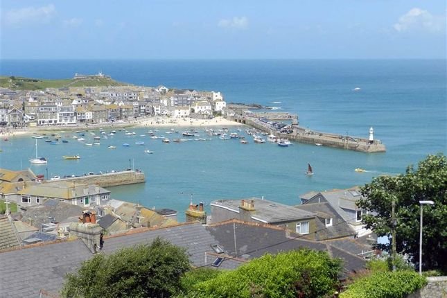Thumbnail Terraced house for sale in Sea View Terrace, St. Ives