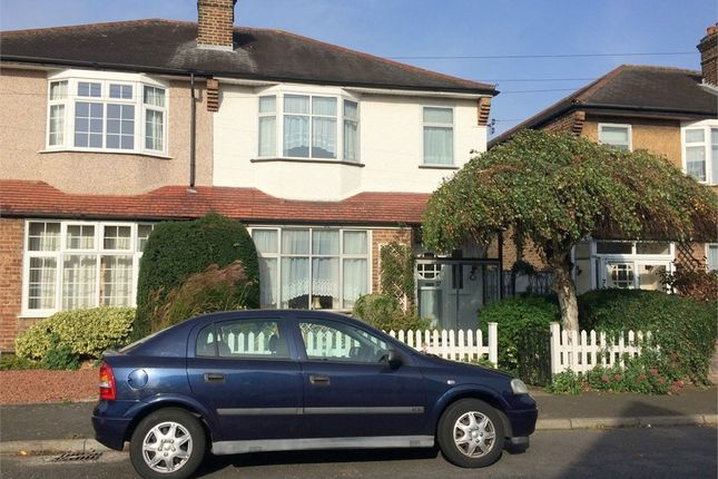 Thumbnail Semi-detached house for sale in Heatherside Road, West Ewell, Epsom
