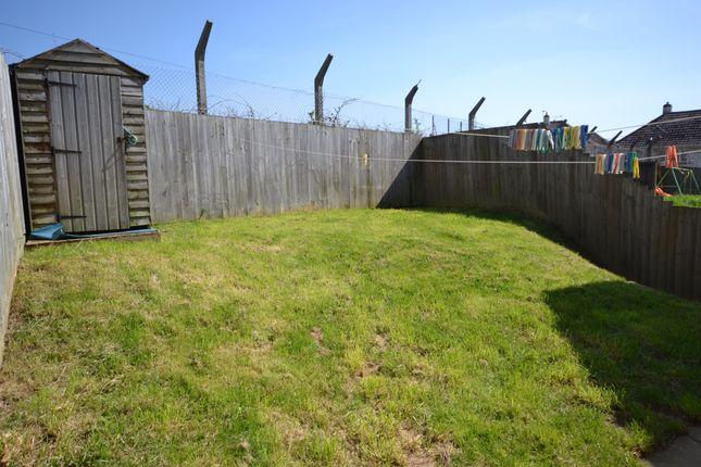 Rear Garden of Beaufort Close, Plymouth, Devon PL5