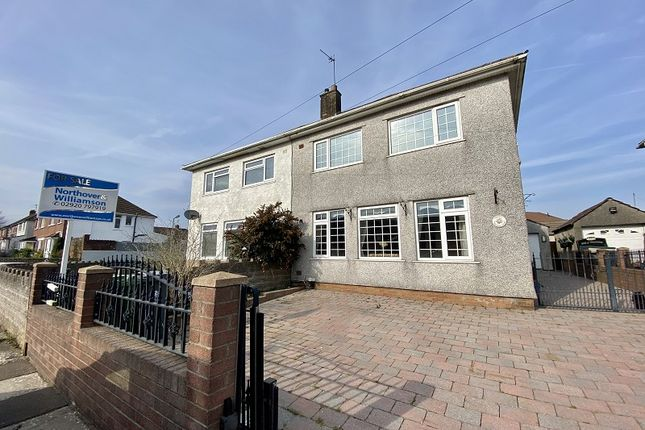 Thumbnail Semi-detached house for sale in Mendip Road, Llanrumney, Cardiff.