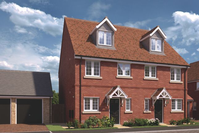 Thumbnail Semi-detached house for sale in Plot 2 & 3, The Ickhurst, Saddlers Lea, Exning Road, Newmarket