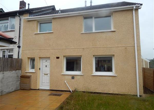 Thumbnail Semi-detached house to rent in Glyn View, Tonyrefail, Porth