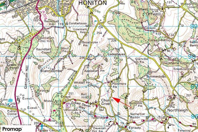 Location Plan of Poltimore Road, Farway, Colyton, Devon EX24