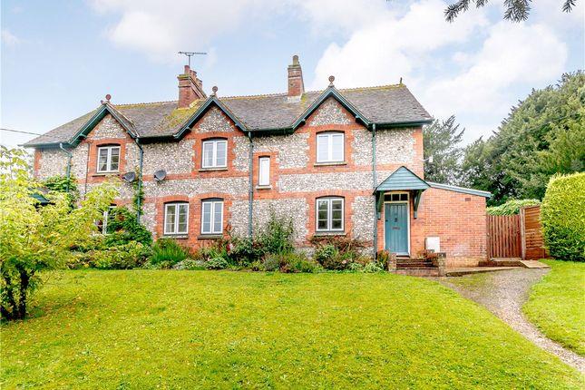 Thumbnail Semi-detached house for sale in Longstock, Stockbridge, Hampshire
