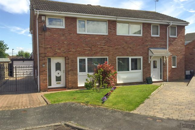 Thumbnail Semi-detached house for sale in Wickett Hern Road, Armthorpe, Doncaster