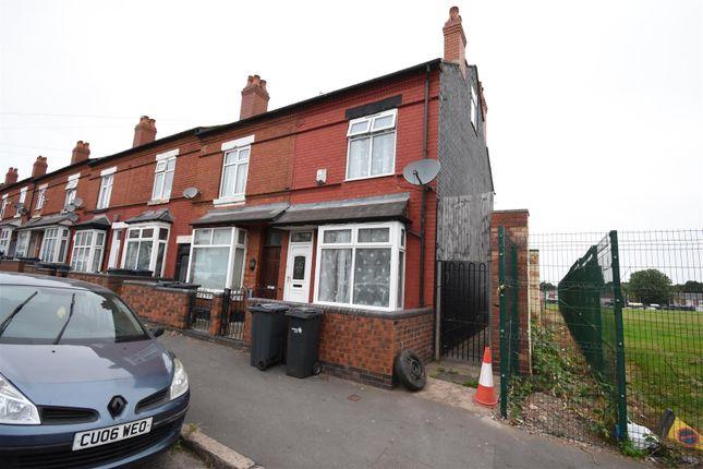 Thumbnail End terrace house for sale in Alderson Road, Alum Rock, Birmingham