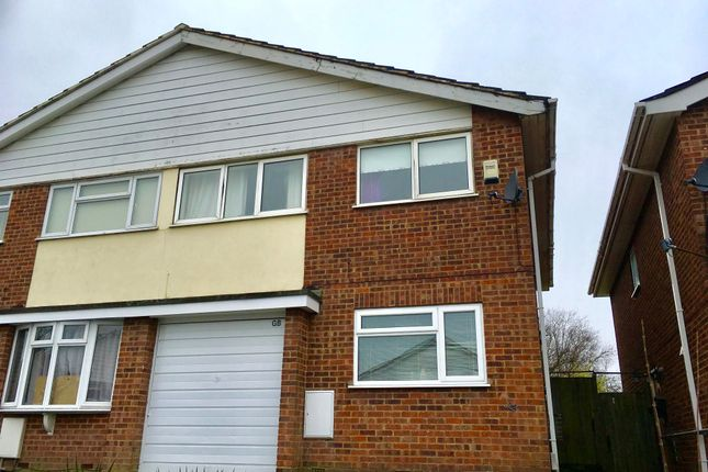 Thumbnail Semi-detached house to rent in St. Christophers Close, Dunstable