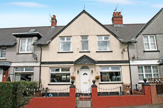 Thumbnail Terraced house for sale in Markham Crescent, Oakdale, Blackwood, Caerphilly Borough