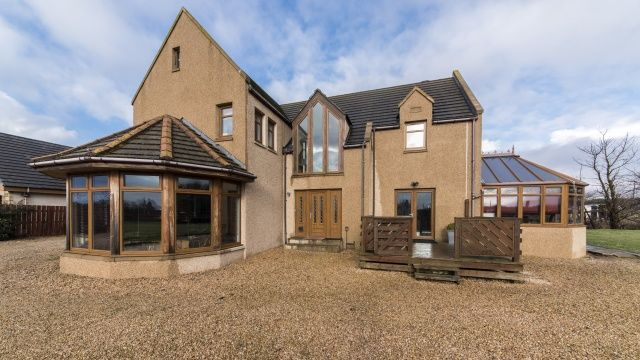 Thumbnail Detached house for sale in Wards Crossroads, Roseisle, Moray