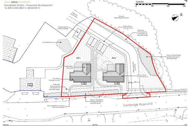 Thumbnail Land for sale in Cambridge Road, Foxton, Cambridge