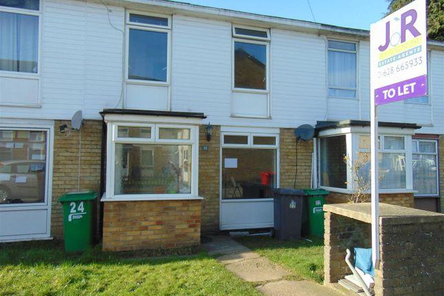 Thumbnail Terraced house to rent in Hogarth Close, Burnham, Slough