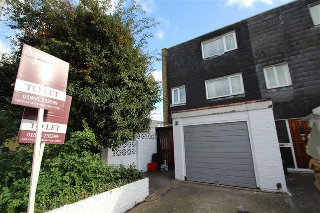 Thumbnail Town house to rent in Greatfields Drive, Uxbridge, Greater London