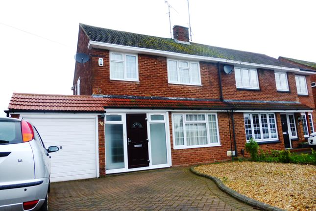 Thumbnail Semi-detached house to rent in Hadrian Avenue, Dunstable