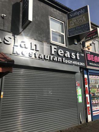 Thumbnail Restaurant/cafe for sale in Soho Road, Handsworth, Birmingham