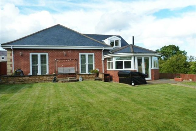 Thumbnail Detached bungalow for sale in First Row, Linton Colliery, Morpeth, Northumberland