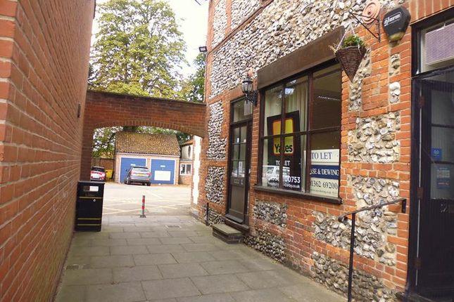 Retail premises to let in 1A, 2 - 3, 11 & 14 Aldiss Court, High Street, Dereham, Norfolk