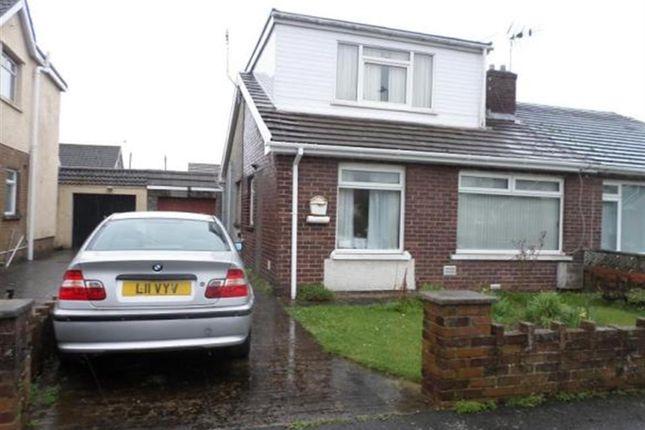 Thumbnail Semi-detached bungalow for sale in Heol Croesty, Pencoed, Bridgend