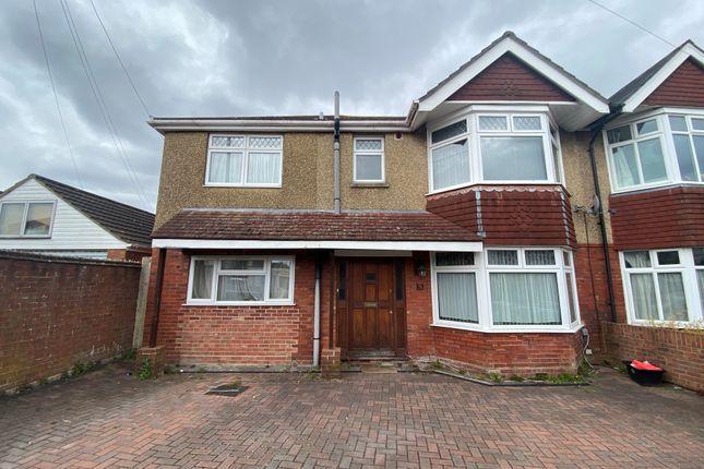Thumbnail Semi-detached house to rent in Kitchener Road, Southampton