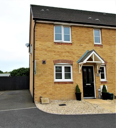 Thumbnail End terrace house for sale in Cherry Crescent, Penllergaer, Swansea