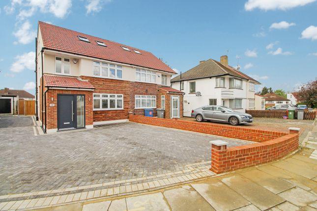 Thumbnail Semi-detached house to rent in Branksome Way, Kenton, Kingsbury