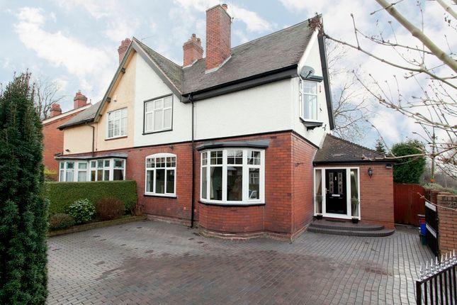 Thumbnail Semi-detached house for sale in Keele Road, Newcastle-Under-Lyme