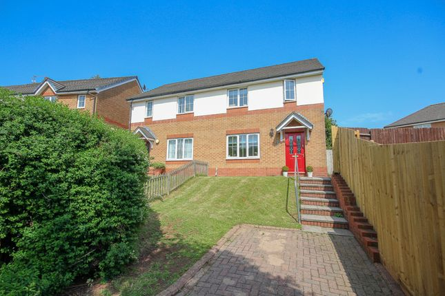 Thumbnail Semi-detached house for sale in Heol Llinos, Thornhill