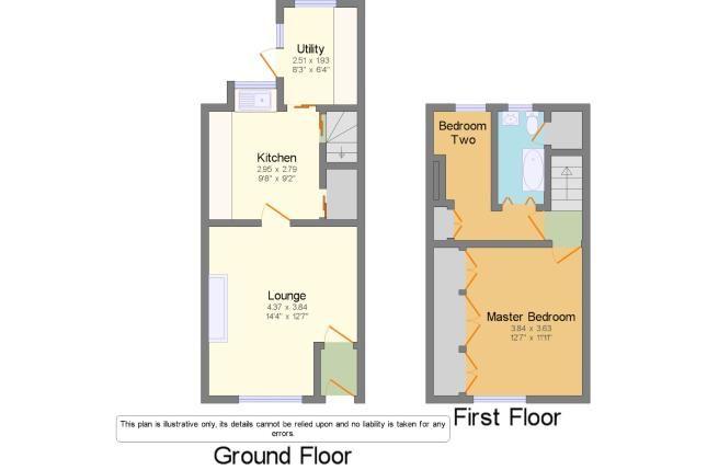 Floor Plan of Oak Street, Burnley, Lancashire BB12