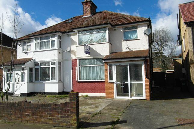 Thumbnail Semi-detached house to rent in The Warren, Heston, Hounslow