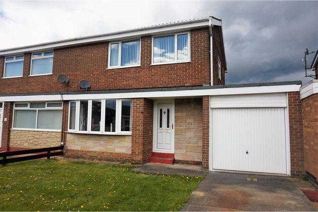 Thumbnail Semi-detached house for sale in Whernside Place, Cramlington