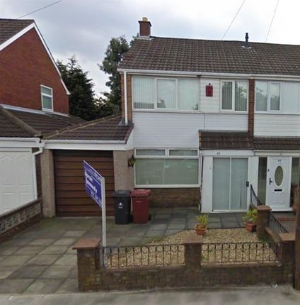 Thumbnail Semi-detached house to rent in Mount Crescent, Kirkby, Liverpool
