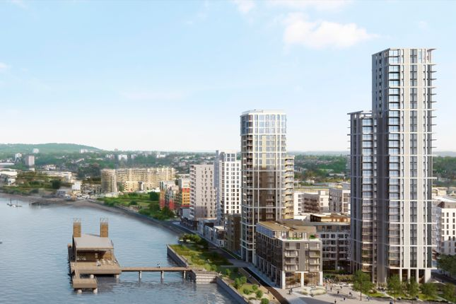 1 bed flat for sale in The Waterman, Barge Walk, Greenwich, London