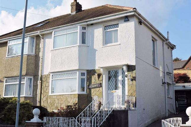 Thumbnail Semi-detached house for sale in Brynawel Crescent, Treboeth, Swansea