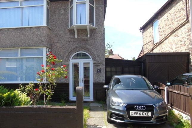 Thumbnail Semi-detached house to rent in Crescent Road, Liverpool