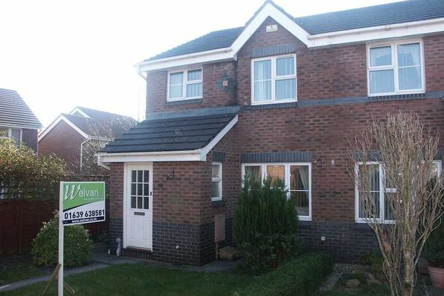 Thumbnail Semi-detached house to rent in Fernlea Park, Bryncoch, Neath .