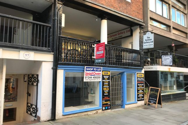 Retail premises to let in 51 Watergate Street, Chester