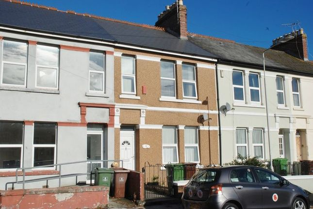 Thumbnail Terraced house to rent in Trelawney Avenue, Plymouth