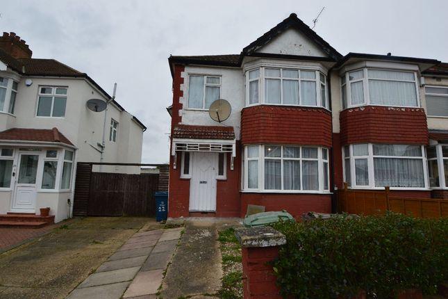 Thumbnail Semi-detached house to rent in Tiverton Road, Edgware
