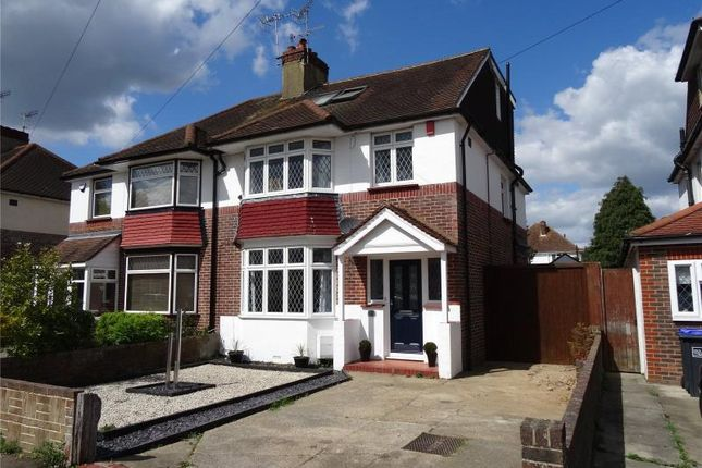Thumbnail Semi-detached house for sale in Broomfield Avenue, Broadwater, Worthing