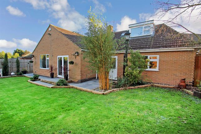 Thumbnail Detached bungalow for sale in Knights Crescent, Rothley, Leicester