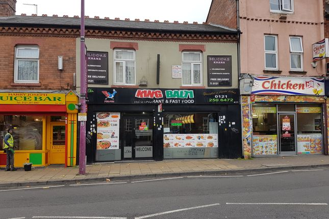 Thumbnail Restaurant/cafe for sale in Witton Road, Witton, Birmingham