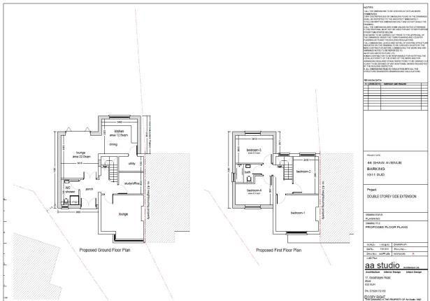 Title Plan 3 of Shaw Avenue, Barking IG11