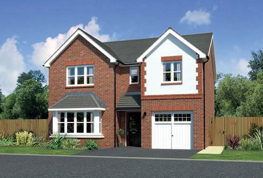 "Thumbnail Detached house for sale in ""Hampsfield"" At Ffordd Eldon, Sychdyn"